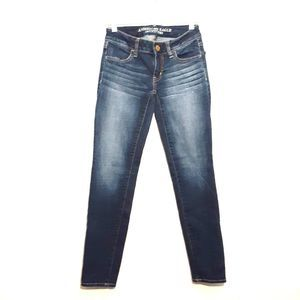 AMERICAN EAGLE womens jeans size 00 blue jegging
